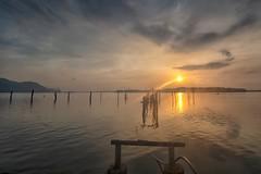 180726 ~ IMG_2004 ~ hening pagi (alongbc) Tags: sunrise pier seascape shoreline coast cloud sky sun lumut perak malaysia travel place trip canon eos700d canoneos700d canonlens 10mm18mm wideangle