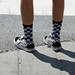 Checkerboard shoes and socks
