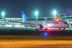EC-MMY Air Europa Boeing 787-8 Dreamliner_3 (RafaelBateraSSA) Tags: ssa sbsv basv salvador bahia aeroportosalvadorbahia vinci planes boeing 787 dreamliner b787 ae air europa nikon d5600 night long exposure