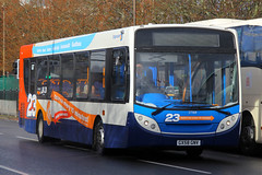 GX58 GNV, St Georges Road, Portsmouth, December 29th 2015 (Southsea_Matt) Tags: gx58gnv 27568 stagecoach southdown alexanderdennis enviro300 adl e300 stgeorgesroad portsmouth hampshire england unitedkingdom december 2015 winter canon 60d bus omnibus transport