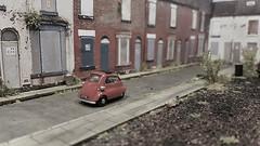 The 1960s (ManOfYorkshire) Tags: bmw isetta bubblecar car auto automobile motoring 3wheel 3wheeler patrol 176 scale model diorama oogauge diecast oxforddiecast 1960s demolition