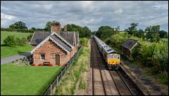 Still standing (Blaydon52C) Tags: station cumwhinton gbrf rail railways train railfreight 66716 4m00 clitheroe cement carlisle cumbria cumberland settle trains transport summer