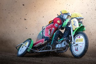 Sidecar in action. At Speed Nights, Hertingen.