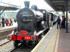 Portrush Flyer locomotive at Antrim. (Trevor Lawrence Photos Northern Ireland) Tags: portrush flyer antrim station north coast preserved locomotive rpsi q class 131