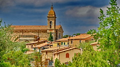 Stormy Montalcino (gerard eder) Tags: europa europe world travel reise viajes outdoor italy italia italien toscana tuscany toskana montalcino iglesia church kirche