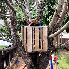 Shhhhh don't disturb them. It took a month and a half but they finally remembered they have a treehouse to play in. . . (iChris) Tags: ifttt instagram treehouse kids outside saskatchewan canada summer hashtagsarestupid whywouldimarketmykidsforlikesandfollows thisisallmeaningle