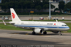 B-1868 | Airbus A320-214 | Air China (james.ronayne) Tags: b1868 airbus a320214 air china aeroplane airplane plane aircraft jet jetliner airliner aviation flight flying singapore changi sin wsss canon 80d 100400mm raw