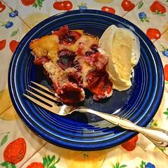 Cherry Cobbler and Ice Cream (esywlkr) Tags: food yummy cherrycobbler nc haywoodcounty icecream northcarolina yummyeats