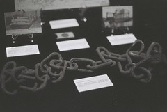 Drag Chain (goodfella2459) Tags: nikon f4 af nikkor 50mm f14d lens ilford delta 3200 35mm blackandwhite film analog harland wolff drag chain titanic history sydney byron kennedy hall exhibition centre bwfp