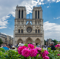 Notre Dame (Scottmh) Tags: 2018 europe notre paris cathedral d7100 dame france june nikon summer travel flowers flower sky people tower building religious religion