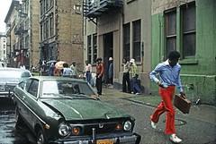 The Le Garsmeur American Photos (Sim's pics) Tags: harlem newyorkcity 28thprecinct newyorkpolice africanamerican 1970s 70s usa america nissan datsun 120y coupe b210