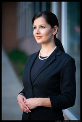 Victoria - Chief Executive (jfinite) Tags: model beauty corporate business pearls suit headshot brunette