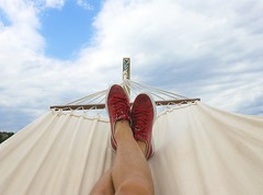 Hammock - Credit to https://www.semtrio.com/ (Semtrio) Tags: clear sky daydreaming hammock leisure outdoors recreation red sneakers relaxation relaxed relaxing summer sun sunny vacation