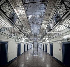 Prison Wing (Matt Bigwood) Tags: gloucesterprison hmpgloucester gloucester gloucestershire victorian architecture prison jail gaol nikond750 verticalpanorama 1635mm
