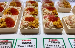 Fresh Seafood Bento at Takashimaya Shinjuku (alexkane) Tags: crab eggs salmon fish shopping department store tokyo japan asia urchin sea kanji shinjuku