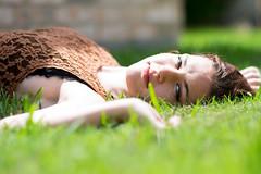 Kahlan (Szemak Photography) Tags: green lace outdoors outside girl woman bokeh nikon portaiture brown redhead black light summer