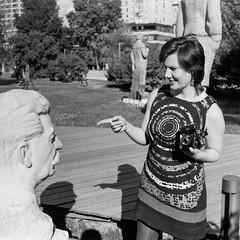 «Dialogues with Stalin» (nonnull) Tags: moscow russia summer blackandwhite noiretblanc filmphotography filmphoto filmisnotdead filmtype120 film mediumformat ru portrait streetportrait bw bwfp streetphotobw bnwmood bnwfilm bnw fujifilmneopan100acros pentaconsixtl mir3b barhatovcom sredafilmlab fujifilmfrontiersp3000 monochrome monotone girl woman noir grain analogphotography analog d76 face mood people streetphoto streetnotes россия москва лето город городскиезаметки пленка фотопленка чб чернобелое настроение люди лица просрочка среднийформат 120rollfilm 2018 парк наташасычева modelnatashasycheva музеон muzeon stalin