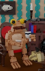 Dr. John Toadson (Space Glove) Tags: lego ldd frog toad detective