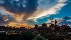 Arches Sunset (Debra L Newbery) Tags: red utah rock rockformation arch archesnationalpark rockarch sunset