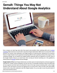 Semalt Things You May Not Understand About Google Analytics (unkautomobile) Tags: semalt seo marketing tips