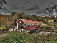 Baronvale Covered Bridge (George Neat) Tags: barronvale coveredbridge bridge middlecreek township twp barrons mill laurelhillcreek burr truss somerset county pa pennsylvania historical landmark scenic landscapes fall georgeneat patriotportraits neatroadtrips laurelhighlands laurel mountains