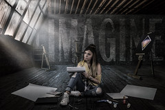 :: art :: (mjcollins photography) Tags: art senior picture dark grunge creative attic loft teenage girl draw paint