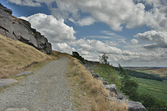 Path to Stanage Edge (Bri_J) Tags: stanageedge peakdistrict nationalpark hathersage derbyshire uk hdr countryside nikon d7200 path hill clouds sky