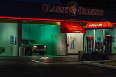 Back At the Car Wash (llabe) Tags: nightphotography night nightlights carwash classychassis lakewood washington nikon d750