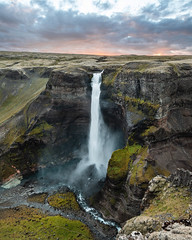 Haifoss (Tanner Wendell Stewart) Tags: ifttt 500px waterfall cascades bridal veil falls rock formation canyon ravine gorge valley cliff fairy rocky natural landmark haifosa haifoss iceland