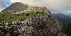 Camp at the edge (loveexploring) Tags: france frenchprealps grandveymont hautsplateauxduvercors iseìre vercors vercorsmassif vercorsplateau camp landscape panorama people tent