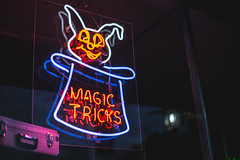 Nothing up my sleeve. (3rd-Rate Photography) Tags: magic magician magictrick rabbit neon sign store storefront canon daytona florida 3rdratephotography earlware