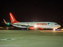 Corendon Airlines TC-TJI HAJ at Night (U. Heinze) Tags: aircraft airlines airways flugzeug planespotting plane airplane haj hannoverlangenhagenairporthaj eddv olympus 1240mm