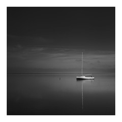 Solo (bprice0715) Tags: canon canoneos5dmarkiii canon5dmarkiii landscape landscapephotography nature naturephotography beautiful beauty beautyinnature bw blackwhite blackandwhite monochrome mono moody lowkey highcontrast dark darksky boat sailboat capecod pointofrocksbeach fineart reflection water ocean
