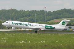 D-AGPI, Zurich, May 16th 2004 (Southsea_Matt) Tags: dagpi germania fokker f100 zurich kloten lszh zrh switzerland canon 10d may 2004 spring airplane aeroplane airliner aviation plane transport regionaljet