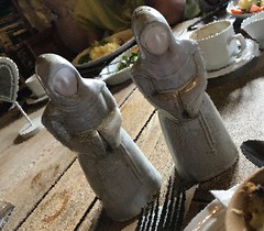3289 v1 China salt and pepper pot monks (Andy - Busy Bob) Tags: ccc ceramic china condiments england kent mmm monks pepperpot photostream porcelain pots ppp saltpot sss statuette
