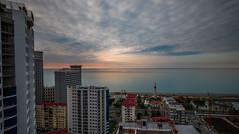 Batumi (free3yourmind) Tags: batumi georgia sea blacksea clouds cloudy long exposure view above city