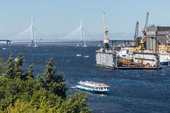 The Summer Breeze - Летний бриз (Valery Parshin) Tags: russia saintpetersburg canoneos70d sigmaaf70300mmf456macrodg valeryparshin summer ship bridge river water blue ngc