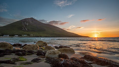 Doogort Sun Going down (mickreynolds) Tags: achillcomayo doogort achill island ireland wildatlanticway nature beach rocks sunset nx500 samyang12mm blue golden hour
