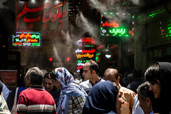 A bazaar in a dystopian future (The eclectic Oneironaut) Tags: 2018 6d canon eos iran selected teheran travel viajes tehran tehranprovince irán ir bazaar people crowd