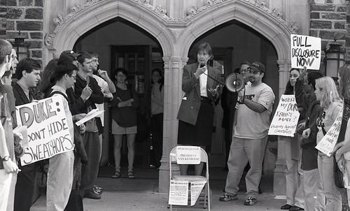 Students Against Sweatshops Demonstration, December 4, 1998