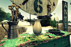 I believe (jana's Moments) Tags: watch sl second life secondlife virtual table jug flower grass sky cloud day magic fantasy tree board