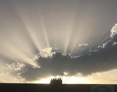Good Heavens (Ronald Hackston) Tags: sun rays cloud sky skies crepuscularrays crepuscular ray heavens above heavenly