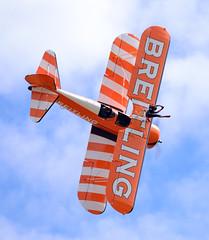 Stearman of The Flying Circus Wingwalking Team (rac819) Tags: oldwarden shuttleworthcollection shuttleworthtrust ukairdisplays family display stearman flyingcircus wingwalking