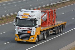SV67 HJD (panmanstan) Tags: daf xf wagon truck lorry commercial flatbed freight transport haulage vehicle a1m fairburn yorkshire
