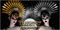 VENGE - Original Mesh - Thanatos Headdress Ad (Vixn Dagger - Vengeful Threads / VENGE) Tags: suicidedollz gothic goth vamp vampire rolepay rp dark pagan fantasy occult