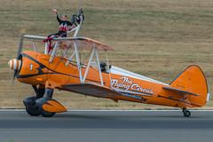 Taxiing Back, Aerosuperbatic Wingwalkers 1, Farnborough 2018 (Peter Cook UK) Tags: 2018 breitling aircraft circus aviation flying show farnborough wing air airshow wingwalkers walkers aerosuperbatic