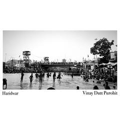 Haridwar (Vinkiphotography) Tags: river rives ganges devine monochrome kawad festival haridwar landscape iphone7plus shotoniphone iphone photography blackandwhite vinki