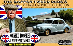 Dapper Tweeds Old cars part 6 (The General Was Here !!!) Tags: britain british scottish scotland uk yorkshire houndstooth canon nz vintage retro old car cars auto show parade rally jacket cap blazer coat man mens wearing fashion country outdoor wool made harris checked tweedcap tweedjacket madeinbritain kiwi newzealand woven poster sign dapper distinguished ride run textile plaid road