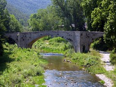 un ponte che resiste (fotomie2009) Tags: san llorenç de muga alt empordà spagna espanya españa catalogna catalunya cataluña catalonha catalonia fiume river bridge ponte puente pont vell