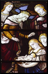 Pharaoh's daughter with Miriam and the infant Moses (Burlison & Grylls, 1880s) (Simon_K) Tags: pulhamstmary pulhams norfolk eastanglia church churches